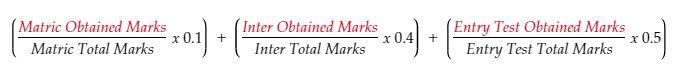 MCAT merti/aggregate revised formula